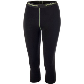 Woolpower Lite 3/4 Lang Ondergoed Dames, black